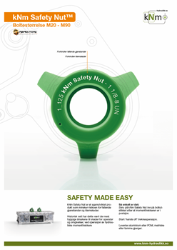 safety nut produktdatablad-framside